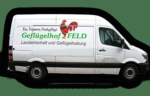 Geflügelhof Andreas Feld Lieferwagen
